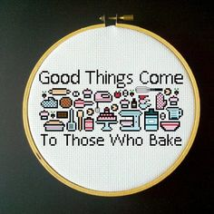 Good Things Come to Those Who Bake - Cross Stitch PDF Pattern