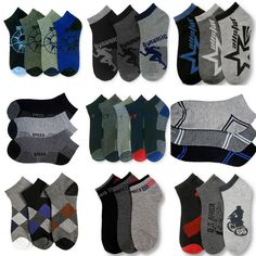 12 Pairs Size 9-11 Anklet Socks Mens Boys Youth Casual Sports Power Club ~ NWT #PowerClub #Casual