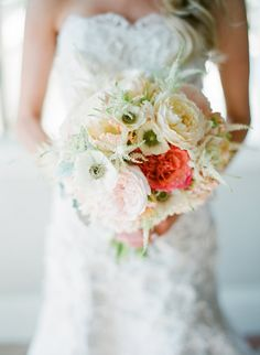 Romantic Bouquet | http://www.StyleMePretty.com/2013/06/10/heartstone-ranch-wedding-from-galas-by-gerry-lane-dittoe/ Lane Dittoe Photography
