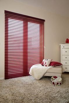 Made to measure Red Sheer Horizon Blinds | Bolton Blinds