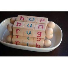 Montessori Phonetic Reading Blocks for the Beginning Reader