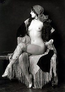 "Vintage Erotic Real Photo Nude c1920's Naked Lady Photograph Erotica 7"" x 5"""