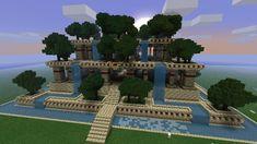 Hanging Gardens Minecraft Project Minecraft Garden, Minecraft Farm, Minecraft Images, Minecraft Projects, Minecraft Designs, Minecraft Houses, Minecraft Stuff, Minecraft Challenges, Minecraft Kingdom