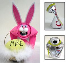 Craft Supplies: Sunshine Discount Crafts: PROJECTS » SPRING » RECYCLED CAN BUNNY