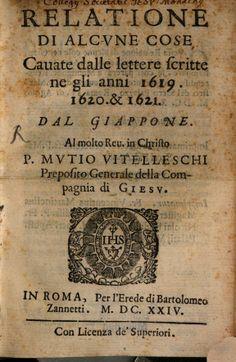Relatione Di Alcvne Cose Cauate dalle lettere scritte ne gli anni 1619, 1620 & 1621 - Girolamo de Angelis