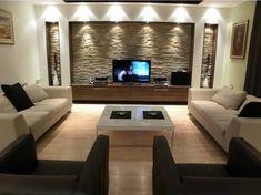 Image result for comment décorer une meuble foyer pour télé