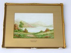 Charles A Bool Victorian Watercolor Derwent Water by BiminiCricket, $495.00
