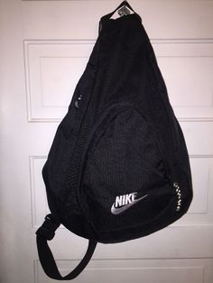 Nike Sling Backpack Black Book Bag  | eBay