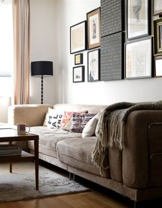 Like pictures on wall and sofa