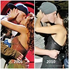 Channing Tatum and Jenna Dewan-Tatum now and then. Happy and in love and still is.