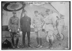 Elliott Cowdin, Lt. Delage, Capt. Thenault, Wm. Thaw (LOC) Lieutenant Colonel Georges Thenault ... was the commander of the Lafayette Escadrille - the famed branch of the French air force in World War I composed of American volunteer pilots