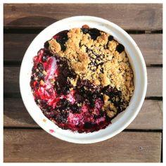 smulpaj med blåbär (gluten, mjölk och sockerfri)