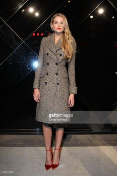 Actress Gabriella Wilde attends Burberry's new watch collection 'The Britain' launch at Burberry flagship store on November 29, 2012 in Beijing, China.