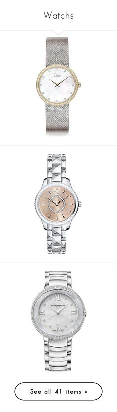 """Watchs"" by bnt-cool on Polyvore featuring jewelry, watches, diamond fine jewelry, fine jewellery, stainless steel jewelry, diamond watches, 18k jewelry, accessories, dior and relógio"