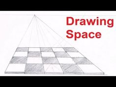 One Point Perspective Drawing Tutorials - How To Draw Space In Perspective - YouTube