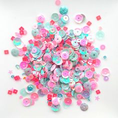 Add a touch of sparkle, glitz and glam to your craft projects with this sparkling mix! A beautiful selection of sparkly sequins, stars,