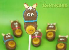 Horse Cookie Pops (made w/ Nutter Butter Cookies) by Miss CandiQuik