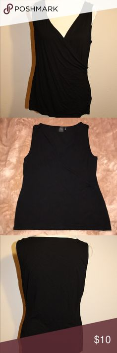 "Sak Fifth Avenue Black Label V-Neck Blouse Gently used Black V-Neck Blouse. Very stretchy material and Very comfortable. Chest: 36"" Saks Fifth Avenue Black Label Tops Blouses"