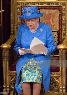 Queen Elizabeth II sits during the State Opening of Parliament in the House of Lords at the Palace of Westminster on June 21, 2017 in London, United Kingdom. This year saw a scaled-back State opening of Parliament Ceremony with the Queen arriving by car rather than carriage and not wearing the Imperial State Crown or the Robes of State.