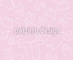 Babies Outfit Rose designed by Viktoryia Yakubouskaya, vector download available on patterndesigns.com Vector Pattern, Pattern Design, Repeating Patterns, Surface Design, Baby Shower, Babies, Rose, Outfits, Babyshower