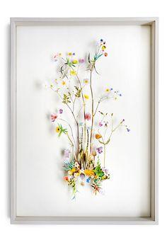 Flower construction #21 (w:50 h:70 d:6.5 cm)