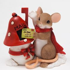 Charming Tails Christmas  Mailbox Mouse Holiday Hi 2015 4046944.