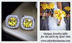 Lemon Drop color themes are very popular for Summer 2018 weddings this year. So I made some jewelry pieces that will fit perfectly with the theme. We got you covered for Bridal jewelry/accessories, jewelry gifts for Bridesmaids, MOH, MOB/MOG, Flower Girls (age-appropriate), or any other lady in your wedding party!  #wedding #bridal #jewelry #bridesmaidsjewelry #bridaljewelry #custombridaljewelry #handcrafted #oneofakind #designerjewelry #adorabysimona