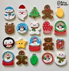 Super Ideas For Holiday Christmas Desserts Sugar Cookies Cute Christmas Cookies, Christmas Sweets, Christmas Goodies, Holiday Cookies, Christmas Baking, Christmas Holidays, Decorated Christmas Cookies, Holiday Desserts, Christmas Gifts