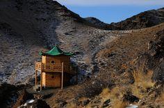 "Mongolian Gobi Desert. A Meditation Retreat near a Mountain Temple in the rugged Mountains of the ""Three Beauties of the Gobi"" National Park. Gobi Gurvan Saikhan National Park. www.stonehorsemongolia.com"