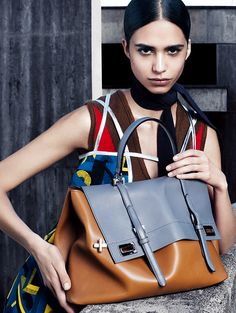 Mica Arganaraz for Prada Fall/Winter 2014 Advertising Campaign, ph. by Steven Meisel.