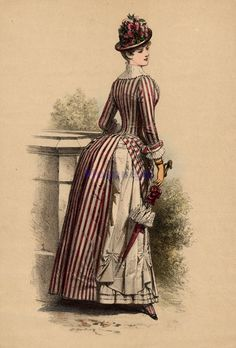 Fashion plate - Walking dress, 1880's