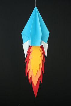 Origami Space Rocket!