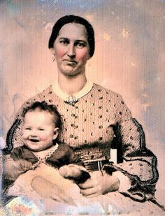 Proud Mother and Laughing Infant, 9th-Plate Ambrotype, Circa 1860