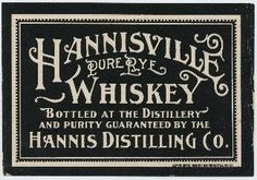 "The ""Hannisville Cache"" Rye whisky believed distilled 1863  2 carboys of magnificent pre-prohibition rye 2 carboys of pre-prohibition whisk..."
