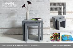 EP34 Concrete Nesting Tables | HomeMade Modern | Bloglovin'