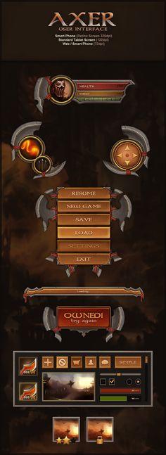 Axer UI by Evil-S.deviantart.com on @deviantART