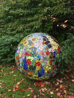 120 cms Stained glass garden mosaic ball.