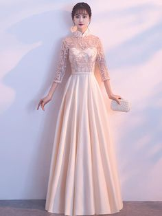 Sexy Long Prom Dresses,A-Line Lace bridesmaid formal Dresses