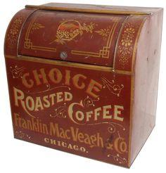 Roasted Coffee tin