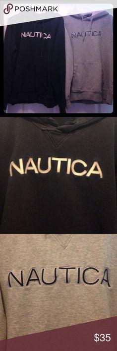 Bundle! 2 Men's Nautica Hoodies!! Bundle deal! 2 men's size large Nautica hoodies. Both are size large. One grey, one navy blue. Great condition! Nautica Jackets & Coats
