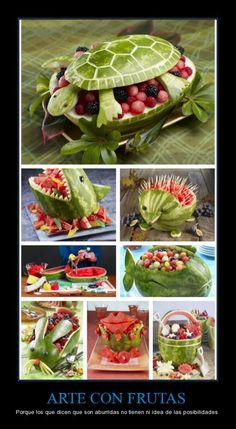 Arte con frutas...