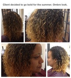 The ombré look on my natural client.