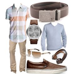 Iron Mission Belt in Brown by kristinmadsen on Polyvore