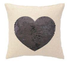 Sequin Silver Heart Pillow from www.twinkletwinklelittleone.com