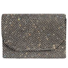 Digabi Shiny Rhinestone Rectangle Shape Flap Crystal Clutch Evening Bag