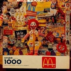 McDonald's 1000 Piece Jigsaw Puzzle Springbok Advertising Premiums Complete GUC #Springbok