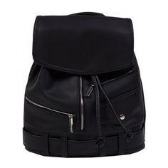 Black Biker Backpack ($30) ❤ liked on Polyvore featuring bags, backpacks, knapsack bags, backpacks bags, black rucksack, bike bag and black knapsack