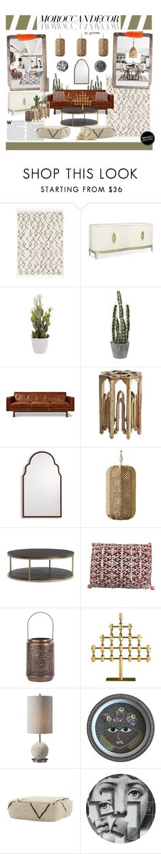 """""""Bohemian Dream: Moroccan Decor"""" by gabree ❤ liked on Polyvore featuring interior, interiors, interior design, home, home decor, interior decorating, Caracole, Gus* Modern, Pier 1 Imports and Grandin Road"""