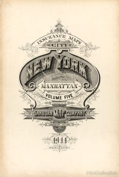 The cover page from the 1911 Sanborn Fire Insurance Map from New York, Bronx, Kings, Queens, Richmond, New York.
