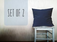 Navy blue pillows outdoor pillows decorative by HomeLivingIdeas, $34.80